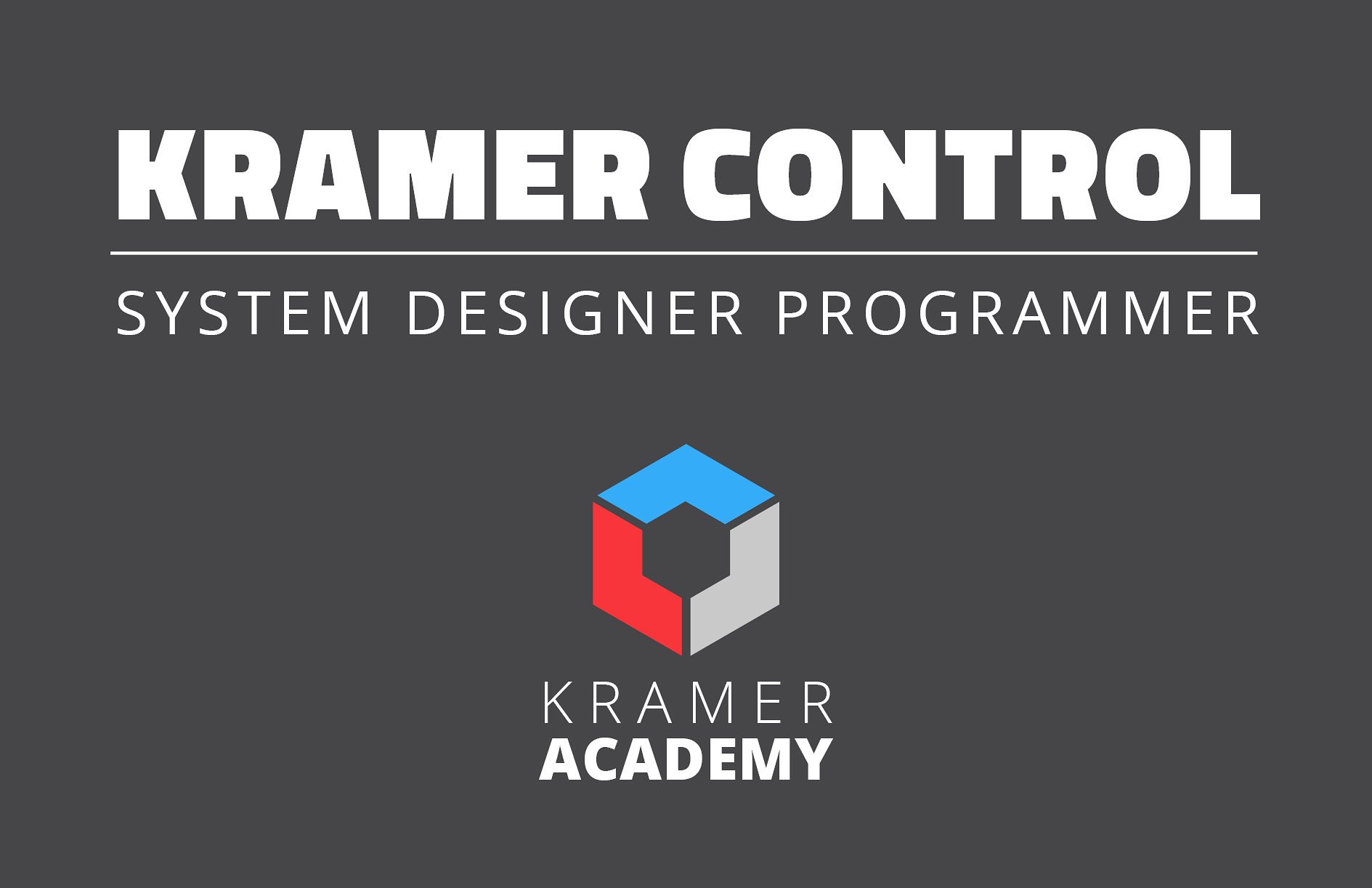Kramer Control_Academy